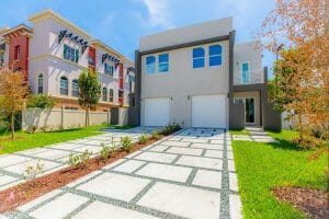 new construction build of a townhome in fort lauderdale florida