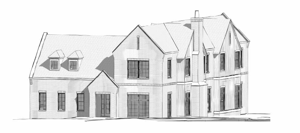 Blue print of front of home