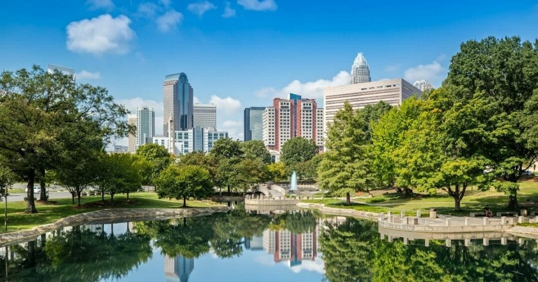City view of Charlotte NC