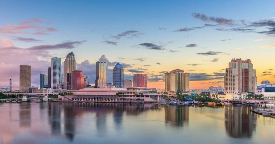 Cityscape view of Tampa Florida